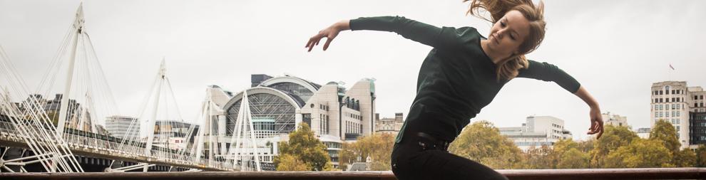 Dancer in front of Thames London