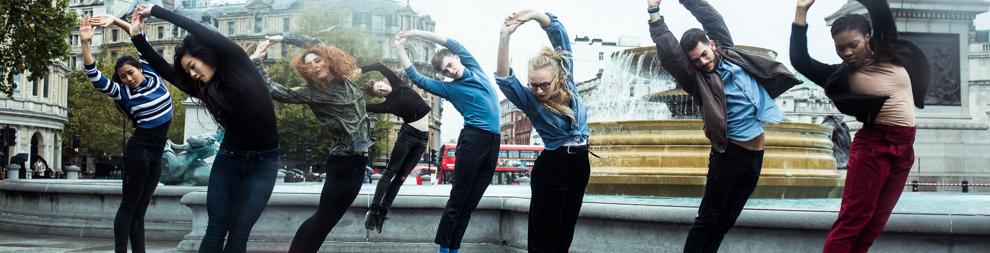 Dancers in trafalgar sq
