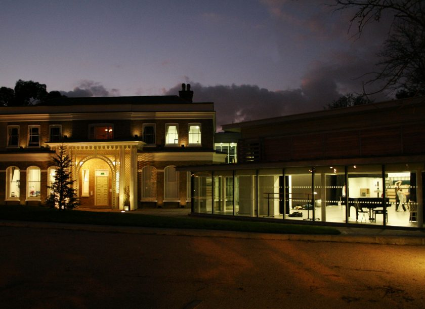 Rambert school at night