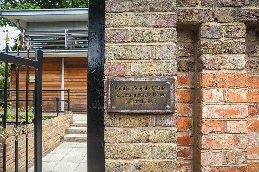 Rambert School plaque