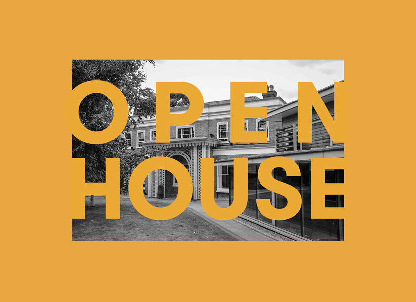 Open house yellow graphic