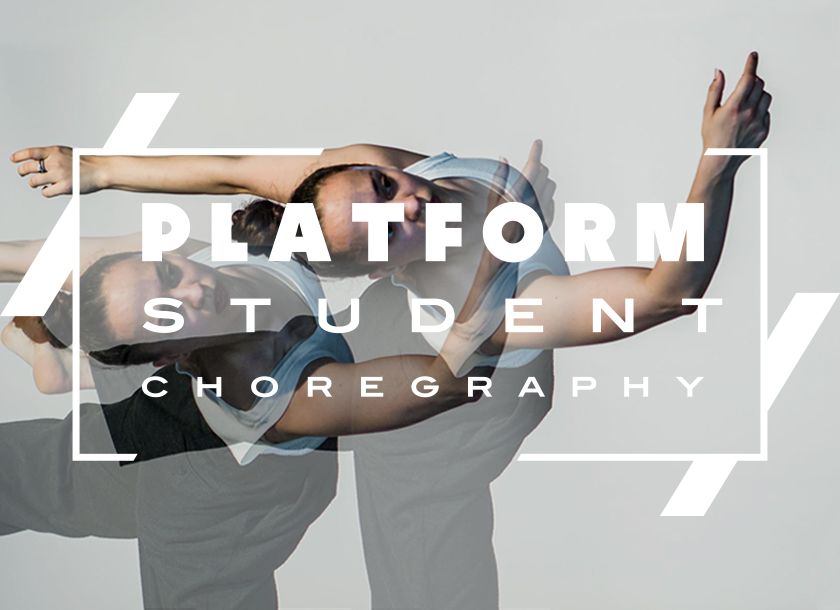 Solo female dancer, platform student choreography poster