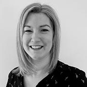 Galina Wilkinson Head of Development Headshot in black and white