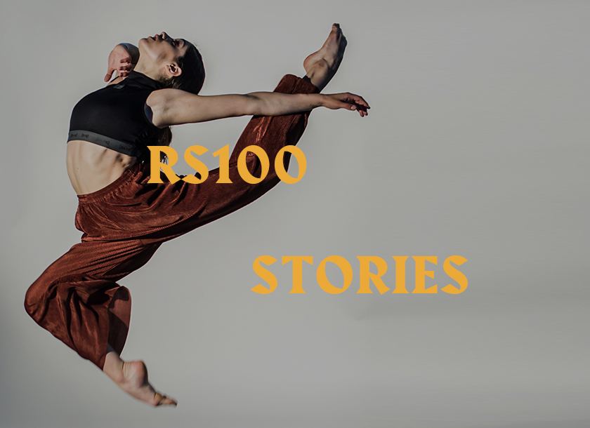 RS100 graphic and leaping contemporary dancer