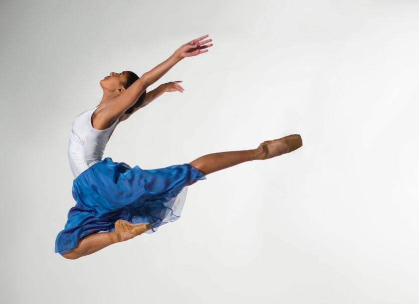 Ballerina in neo-classical costume