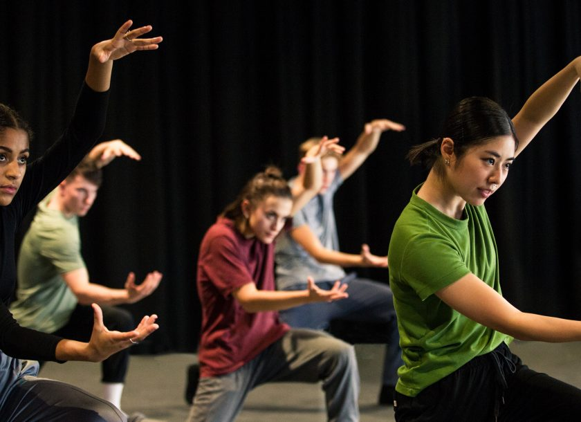 Group of dancers learning Rambert Grades
