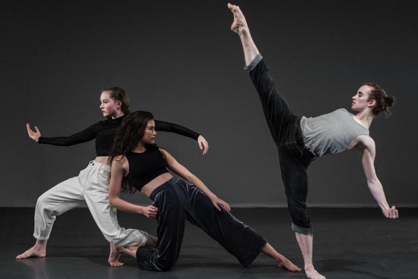 Trio of contemporary dancers