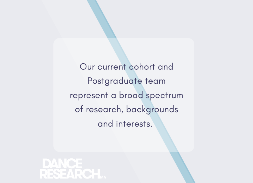 Text graphic the cohort has a range of diverse research interests
