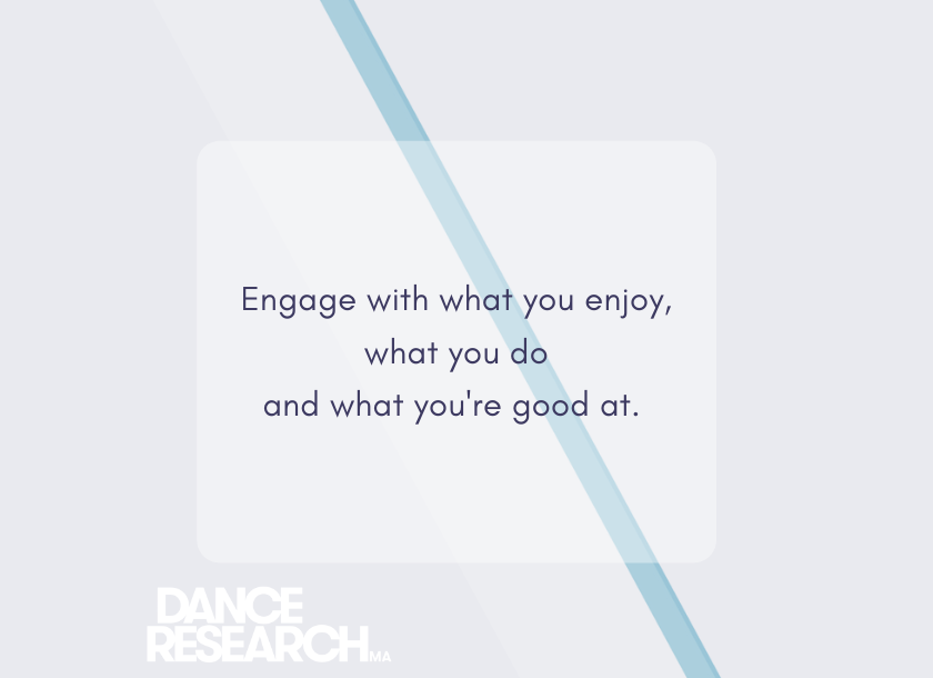Test graphic engage with what you enjoy